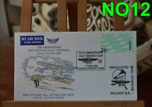 FIRST DAY COVERS-1985  /2 NO12 -75 ANNIVERSARY ,FIRST FLIGHT