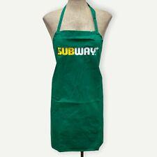 1-Pack Subway Green Full Apron Restaurant Uniform Employee Crew, New