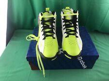 Reebok Men's Kamikaze II Mid Fashion Sneaker, Neon Yellow Black, Men's Size 11.5