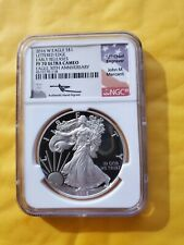 New listing 2016 W Ngc Proof Pf70 Uc Er Silver Eagle 30Th Ann Lettered Edge Mercanti Signed