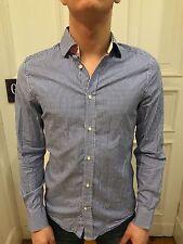 H&M Business Hemd Freizeithemd Shirt Gr. S blau kariert 100% Baumwolle wie NEU
