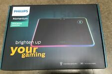 Philips LED Qi Horizontal Gaming Mouse Pad with Wireless Qi Charging- SPL7504