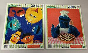 Sesame Street Frame Tray Puzzles Hasbro 20 Pieces