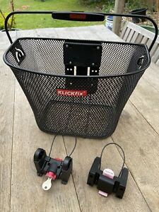 Klickfix bicycle basket with adapters