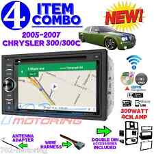 05 06 07 CHRYSLER 300 300C DOUBLE DIN NAVIGATION BLUETOOTH BT CAR RADIO STEREO