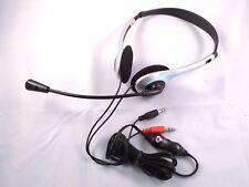 Auriculares audífonos estéreo Computadora PC Skype Boom Mircophone en línea de control