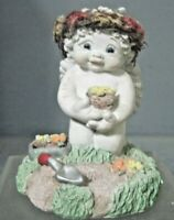 DREAMSICLE ANGEL OR CHERUB CERAMIC FIGURE  MAY CALENDAR COLLECTION