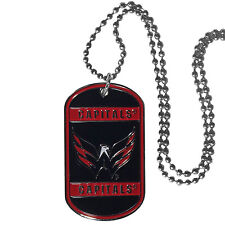 "washington capitals licensed nhl hockey necklace dog tag 26"" chain"