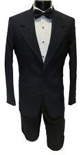 34R NEW 100% Wool Mens Navy Blazer 2 Button Notch Lapel Buisness Suit Jacket