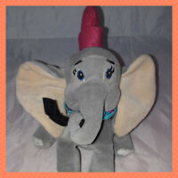 Disney Store Dumbo Elephant With Feather Plush Beanie Soft Stuffed Animal Toy 7""