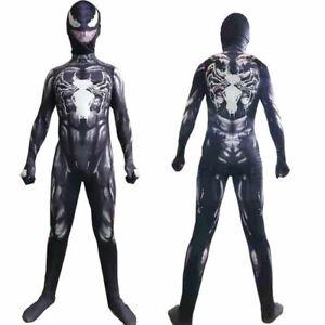 Kids Venom Cosplay Superhero Halloween Carnival Fancy Costume Children Costumes