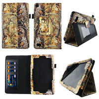 Tree Camouflage Fit for Kindle Fire 7 inch 2015 Tablet Case Cover ID Slot