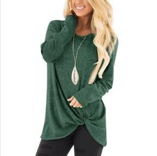Women Long Sleeve T Shirt Sweater Ladies Casual Pullover Blouse Tunic Top S-2XL