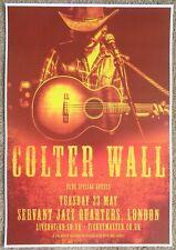 COLTER WALL 2017 Gig Poster London UK Concert United Kingdom