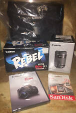Canon EOS Rebel SL1 DSLR Camera w/18-55mm, 75-300mm, SD Card Bag Bundle