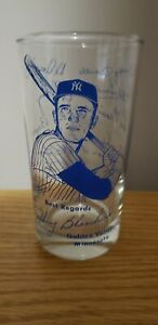 1960's Johnny Blanchard New York Yankees Signature Glass Mantle Maris Ford Boyer