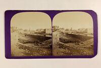 Libano Rivière Ville A Identificare c1865 Foto Stereo Vintage Albumina
