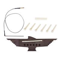 Set Pont écrou Selle Micro Piezo Pins Pour Guitare Acoustique 6 Cordes