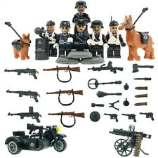 Toy Soldiers WWII Bricks Mini Army Figures fit lego Weapons Germany Waffen-SS