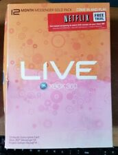 XBOX 360 LIVE 12 MONTH MESSENGER GOLD PACK, NEW