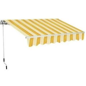 Tenda da sole avvolgibile a rullo giallo/aranc. 2x3 mt fissaggio soffitto parete