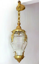 Large BACCARAT French Lantern Louis XVI st Bronze Late 19TH Chandelier Ceiling