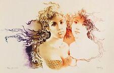 "PRINT CAPOZZOLI GLAUCO ORIGINAL SENSUAL & ROMANTIC LITHO ""THE TWINS""  HAND S & N"