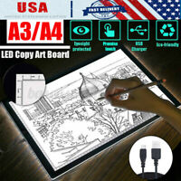 A3 A4 LED Light Box Tracing Drawing Board Stencil Tattoo Art Design Copy Pad