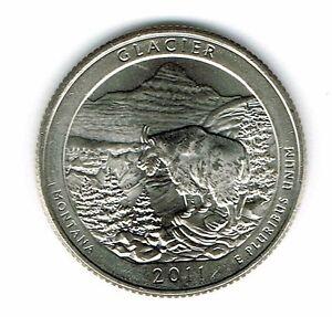 2011-D Brilliant Uncirculated Glacier National Park Quarter Coin!