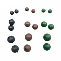 100pcs Rubber Shock Impact Rig Beads Carp Fishing Terminal Tackle Rubber Beads