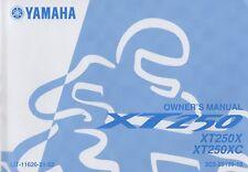 2008 YAMAHA MOTORCYCLE XT250X, XT250XC OWNER'S MANUAL LIT-11626-21-52 (996)