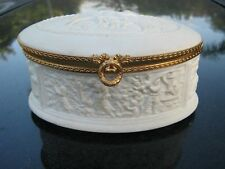 Vintage LIMOGES FRANCE white bisque trinket/jewelry box Clearance