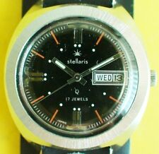 VINTAGE 1970'S MENS STELLARIS 17 JEWELS WATCH MADE IN JAPAN VERY GOOD CONDITION
