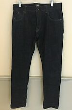 Men's Barbour International  WorkWear Jeans Button Fly Size 34 x 34 Blue Denim