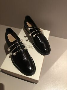 Coliac  Black Patent Leather Oxfords