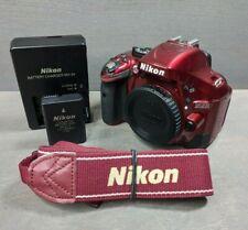 Nikon D5200 24.1MP Digital SLR Camera - Red (Body Only) - 8K Clicks