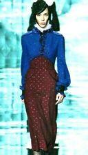 New NWT Marc Jacobs Fall 2011 Runway Polka Dot Ruffle Wool Dress IT 40 / US 4