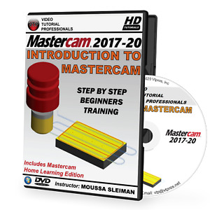 MASTERCAM 2017-2020 - Intro To Mastercam Video Tutorial Training (2018, 2019)