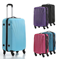 Hard Shell Cabin Suitcase Trolley Case 4 Wheel Luggage Spinner Ultra Lightweight
