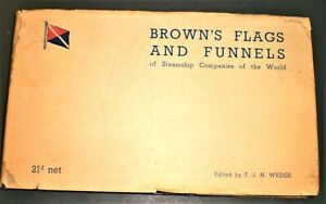 BROWN'S FLAGS AND FUNNELS 1951 British & Foreign Steamship Companies - Wedge