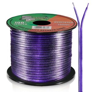 100' ft Roll 20Ga Purple Car & Home Audio Stereo Speaker Wire Cable 20 Gauge AWG