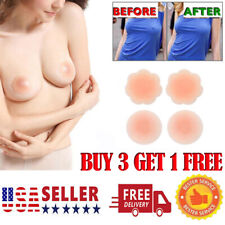 US Reusable Silicone Petal Adhesive Nipple Cover Invisible Bra Pad Pasties sl
