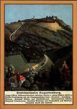 AUGUSTUSBURG Sachsen DDR Postkarte Drahtseilbahn bei Erdmannsdorf color ReproAK