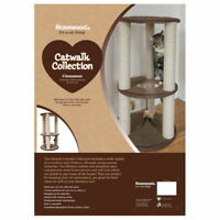 Catwalk Cat Scratch Post Cinnamon 45x45x81cm