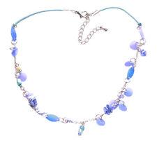 Irisedcent & Cool Azul cielo & Turquesa Collar Ajustable Y Cadena Encanto. (Zx94)