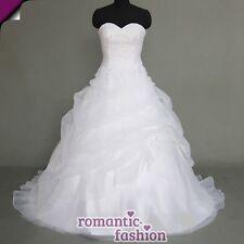 ♥ vestido de novia, vestido de bodas en blanco Tamaño 34-54 para la selección + nuevo + inmediatamente +w075 ♥