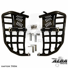 Yamaha Raptor 660  Nerf Bars  Pro Peg Heel Gaurds  Alba Racing  Black Black  203