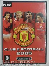 Jeu MANCHESTER UNITED CLUB FOOTBALL 2005 pour PC francais game soccer collection