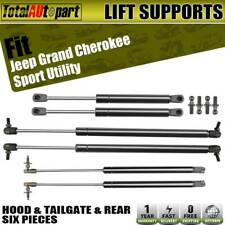 6x Hood+Tailgate Window Lift Supports Struts for Jeep Grand Cherokee 1999-2004
