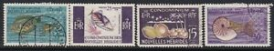 NEW HEBRIDES (French)....  1963 sea life  15f, 25f, 30f, 50f  used